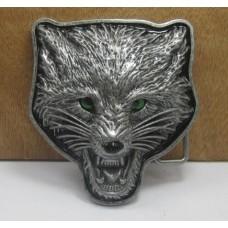 Rozzuřený vlk - opasková přezka