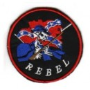 Nášivka Rebel - kostra s puškou