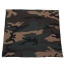 Šátek vojenský BANDANA Woodland, 53 x 53 cm