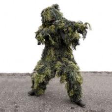 Maskovací oblek Ghillie Suit ANTI-FIRE Woodland (4-dílný)
