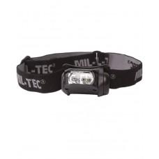 Taktická čelová svítilna 4 COLOR LED, Black
