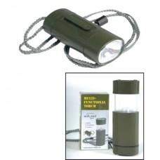 Svítilna multifunkční 2v1, Oliv