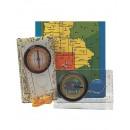 Turistický kompas obdelníkový, s lupou