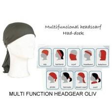 Multifunkční šátek/šála HEADGEAR - Oliv