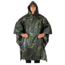 Pončo US ARMY (maskovací, zelené, černé)